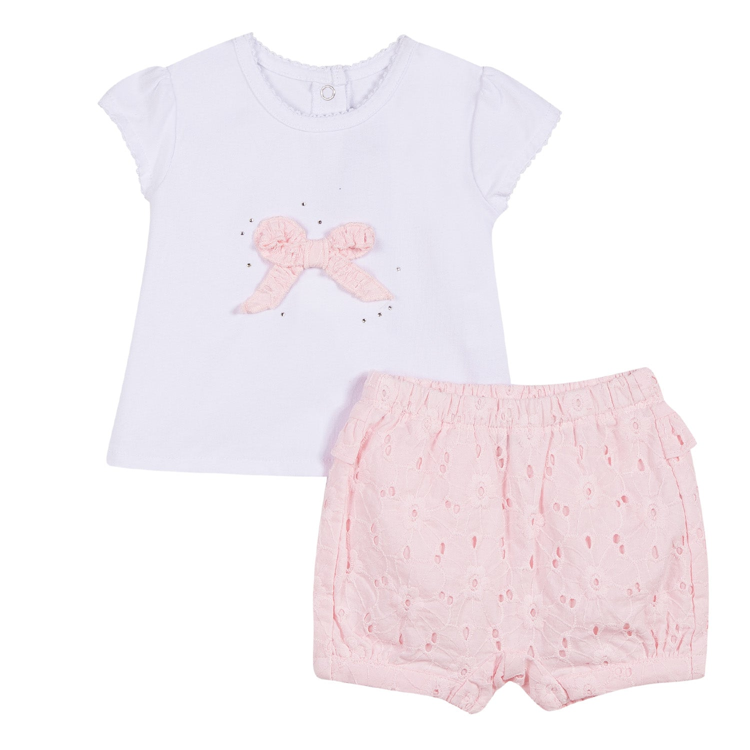 Absorba Pink & White Two Piece Set