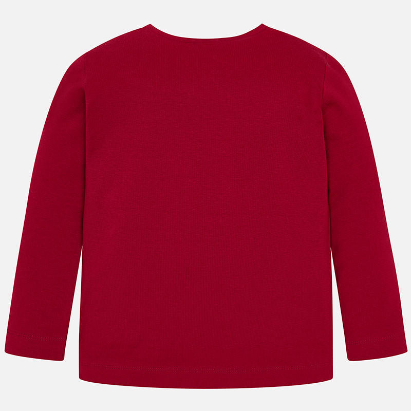 Mayoral 'Just Love' Red Long Sleeved T-Shirt