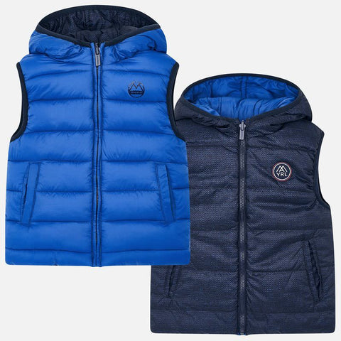 Mayoral Blue Reversible Gilet