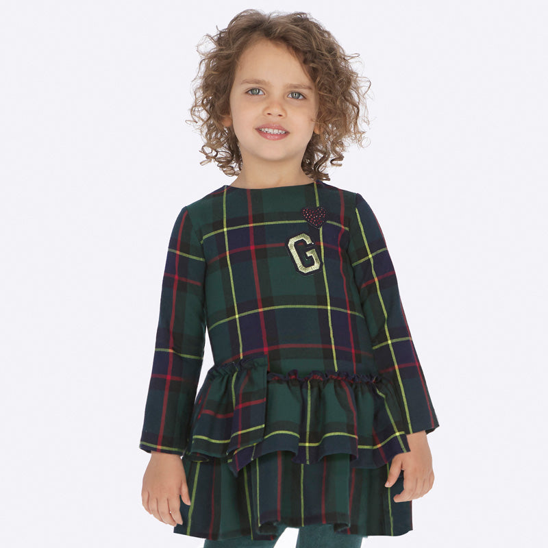 Mayoral Green Plaid Dress