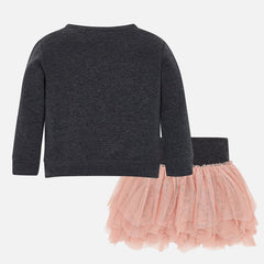 Mayoral Sweatshirt & Skirt Two Piece Set
