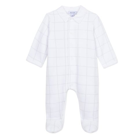Absorba Grey & White Velour Babygrow
