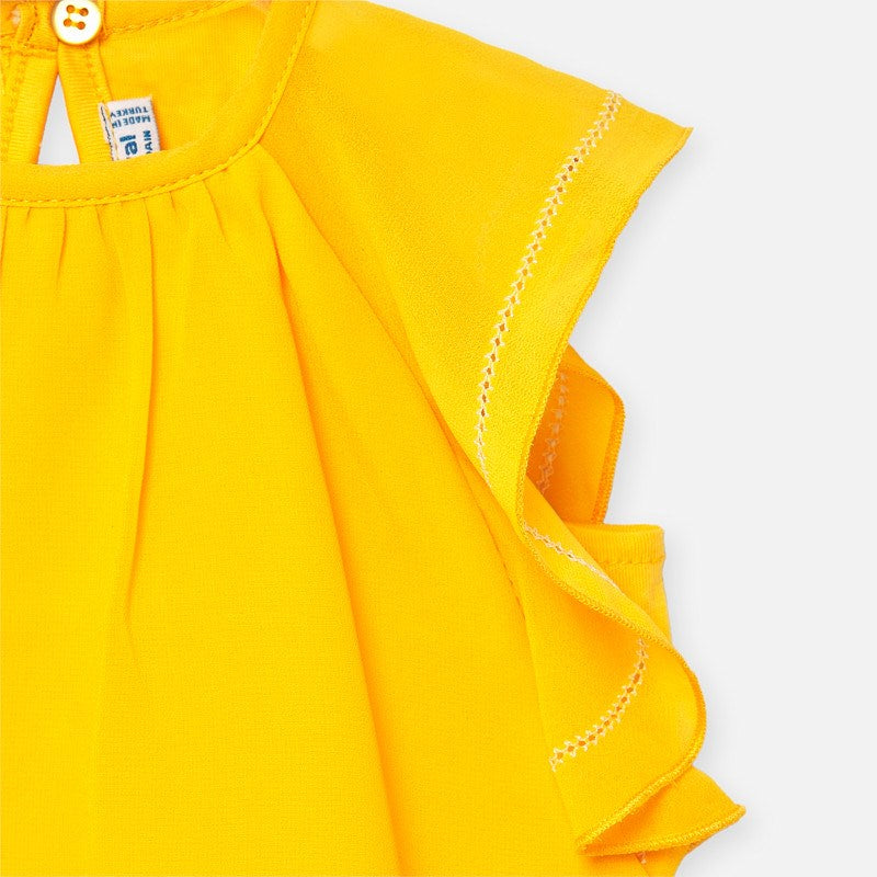 Mayoral Yellow Ruffle Top