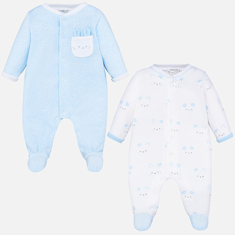 Mayoral Blue Two Piece Babygrow Set