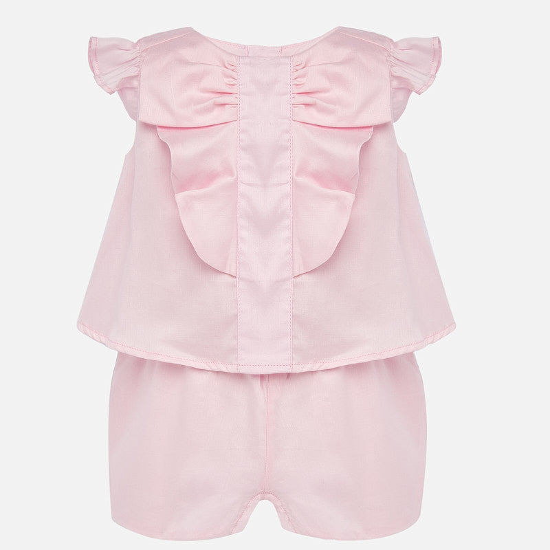 Mayoral Pink Ruffle Romper