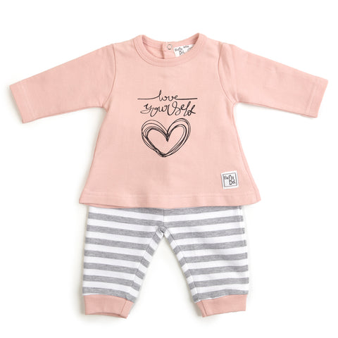 Babybol 'Love Yourself' Two Piece Set