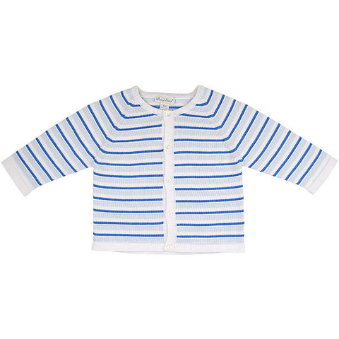 Kissy Kissy Blue & White Striped Knitted Cardigan