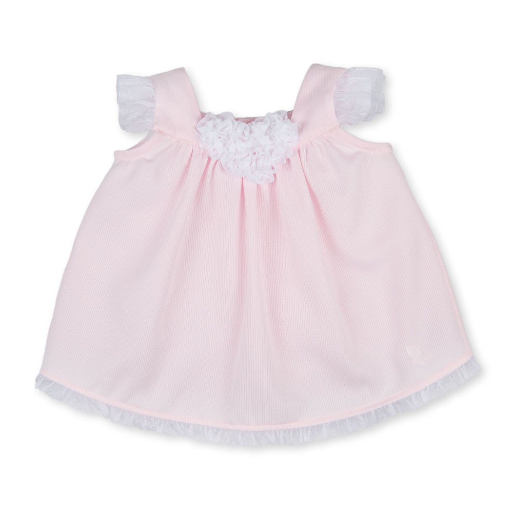 Tutto Piccolo Pink & White Dress