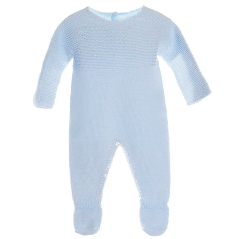 Patachou Blue Knitted Babygrow