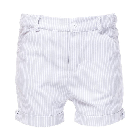 Patachou Beige & White Striped Shorts