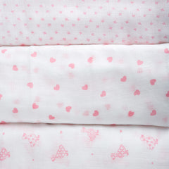 Mayoral Pink & White Trio Muslin Gift Set