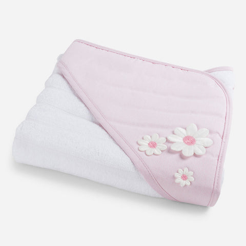 Mayoral Pink & White Hooded Towel