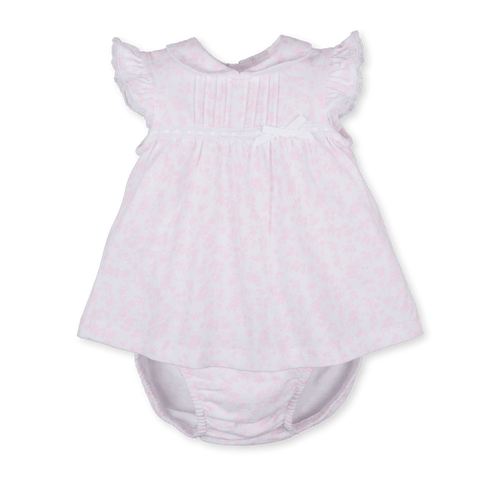 Tutto Piccolo Pink & White Dress with Knickers