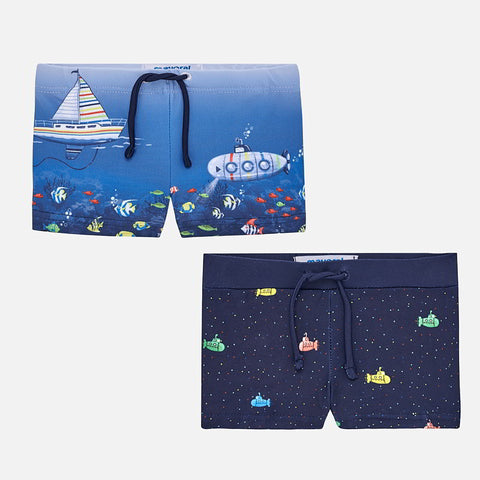 Mayoral Baby Twin Pack Swim Shorts