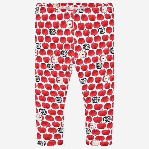 Mayoral Apples Design Leggings
