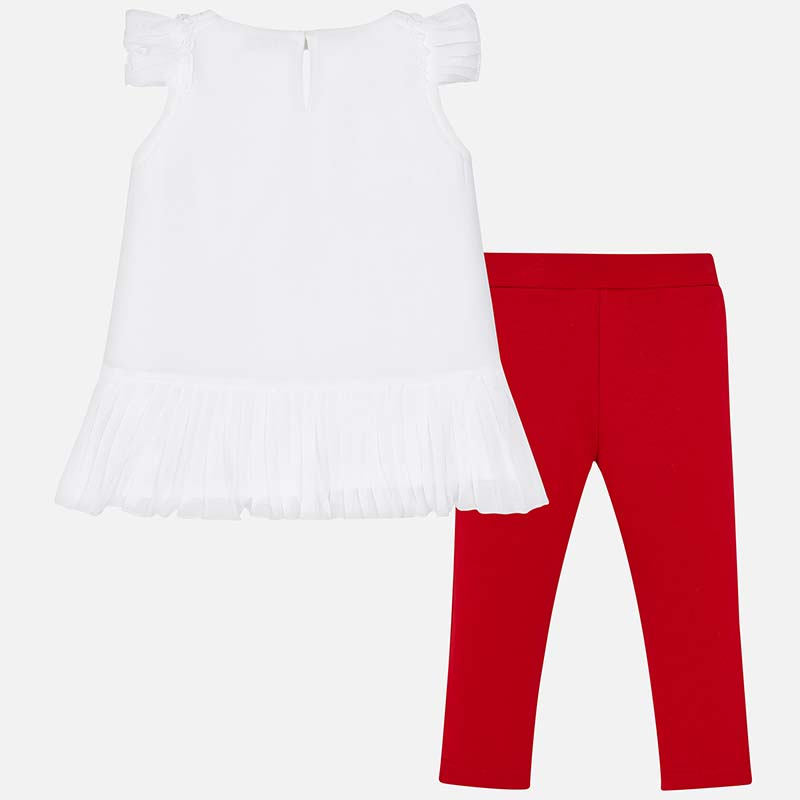 Mayoral Red & White Two Piece Set