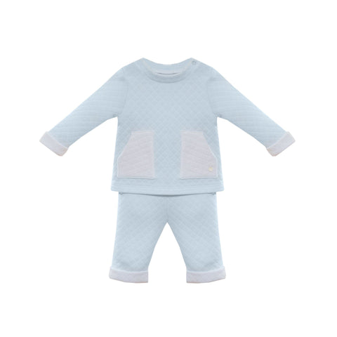 Patachou Textured Blue Tracksuit