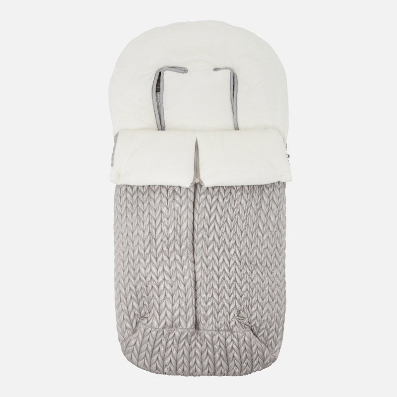 Mayoral Grey Padded Pram Footmuff