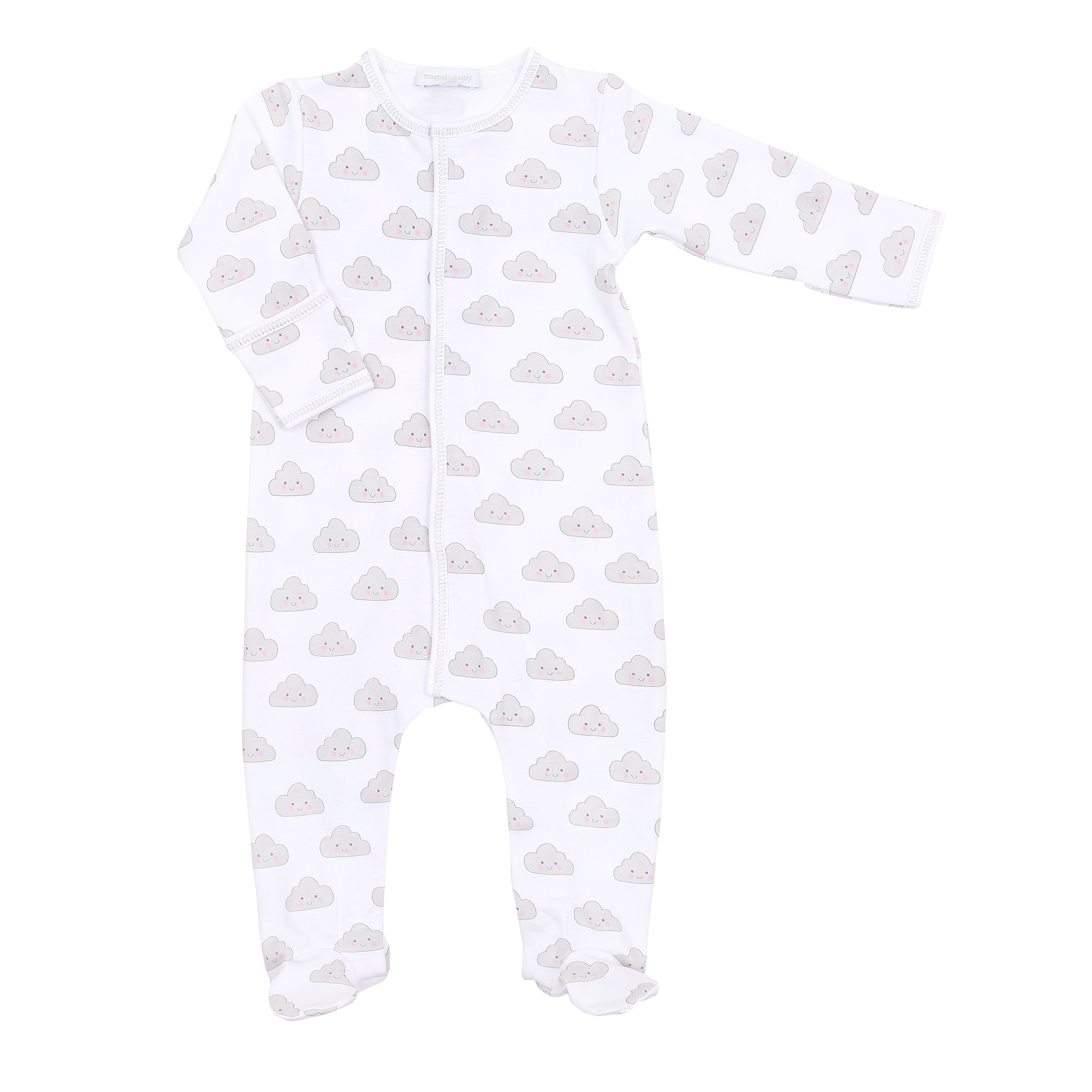 Magnolia Baby 'In the Clouds' White Babygrow