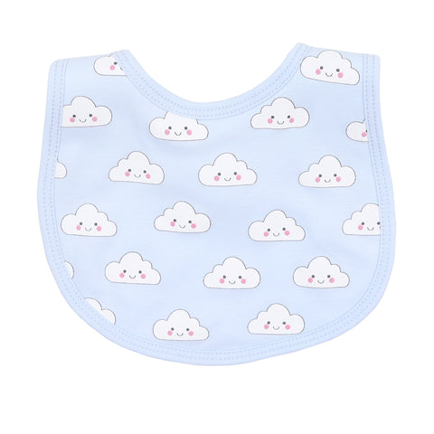 Magnolia Baby 'In the Clouds' Blue Bib