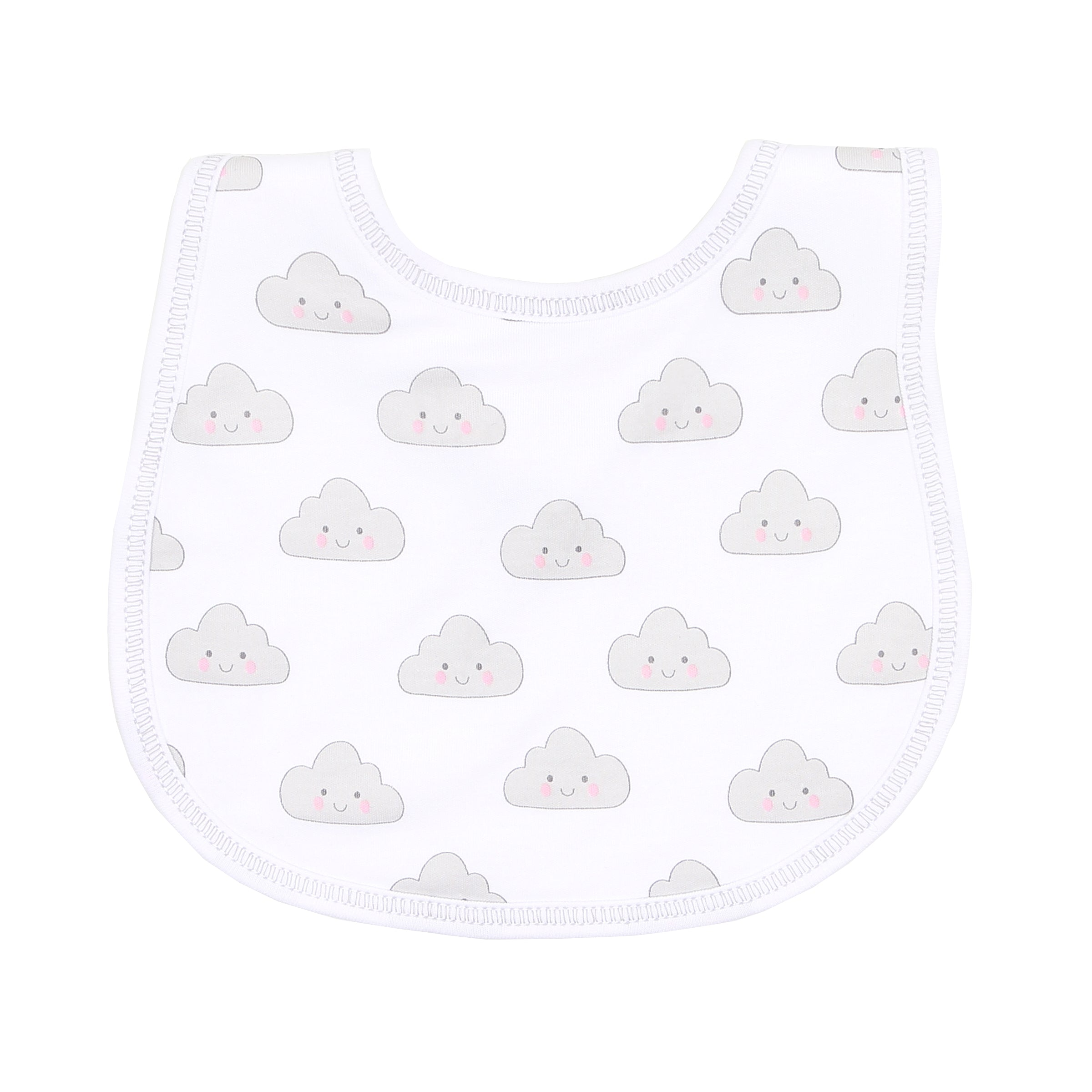 Magnolia Baby 'In the Clouds' White Bib