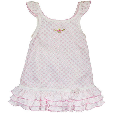 Magnolia Baby Pink & White Dress with Knickers