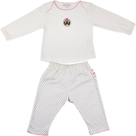Magnolia Baby PJ Set with Frill Detailing on Bottoms