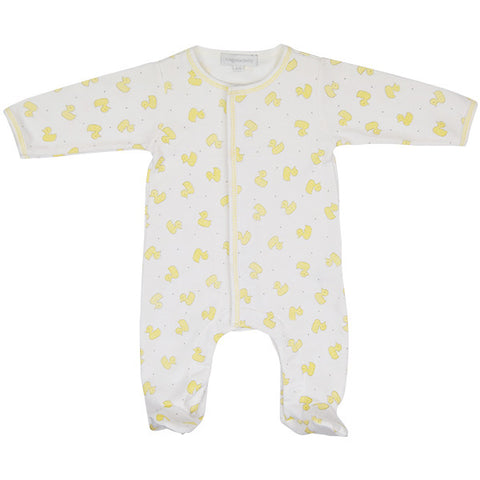 Magnolia Baby White Babygrow with Rubber Ducks Design