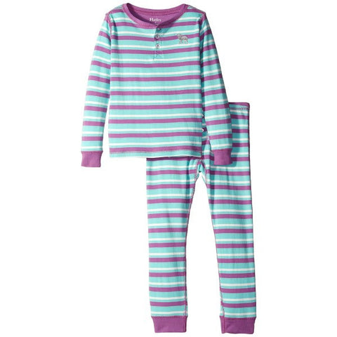 Hatley 'Icy Stripes' Girls PJ Set