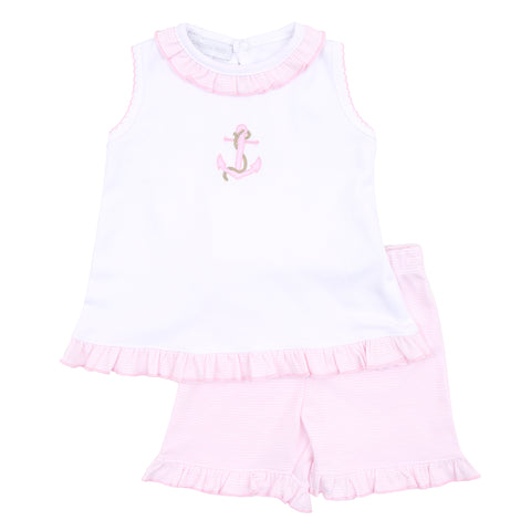 Magnolia Baby 'Anchors' Girls Two Piece Set