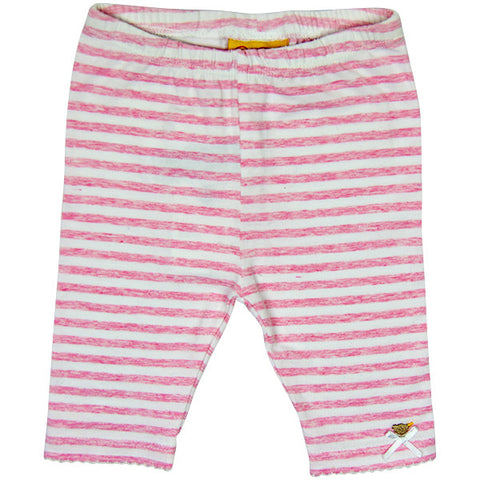 Steiff Pink & White Striped Leggings