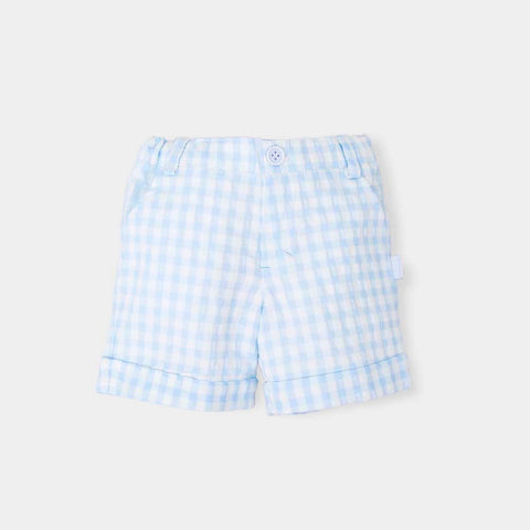 Tutto Piccolo Blue & White Gingham Shorts