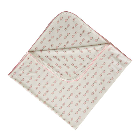 Rachel Riley Pink Elephants Blanket