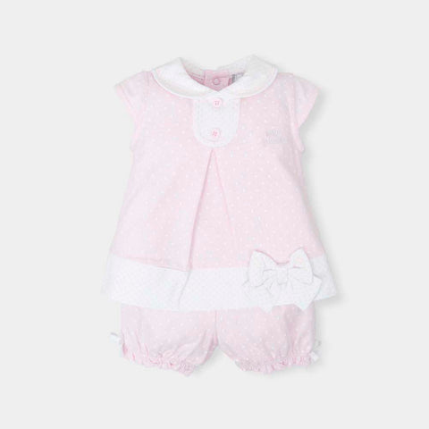 Tutto Piccolo Pink & White Two Piece Set