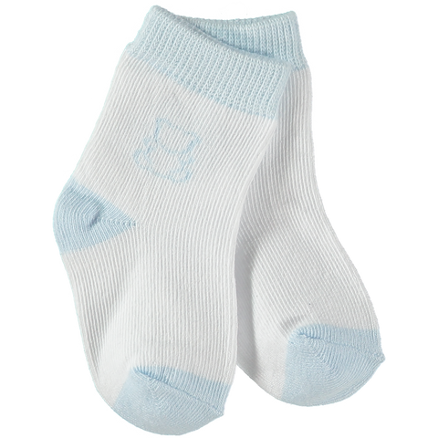 Emile et Rose Blue & White Twin Pack Socks