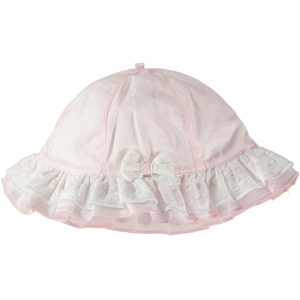 Emile et Rose Pink & White Sun Hat