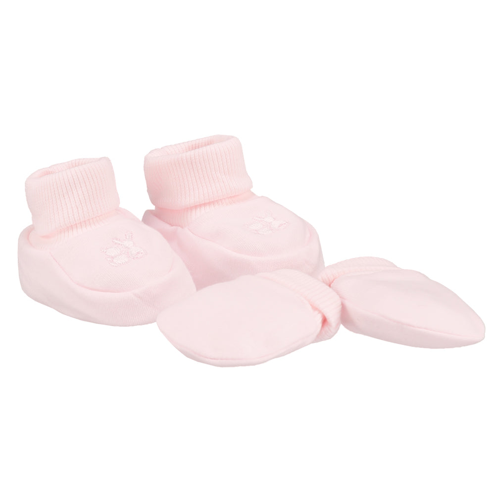 Emile et Rose Pink Booties & Mittens Gift set