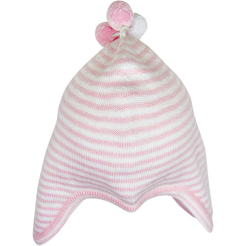 Kissy Kissy White & Pink Knitted Hat