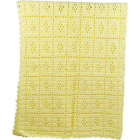 Hand Crocheted Yellow Blanket