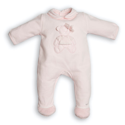 First Pink Teddy Bear Babygrow