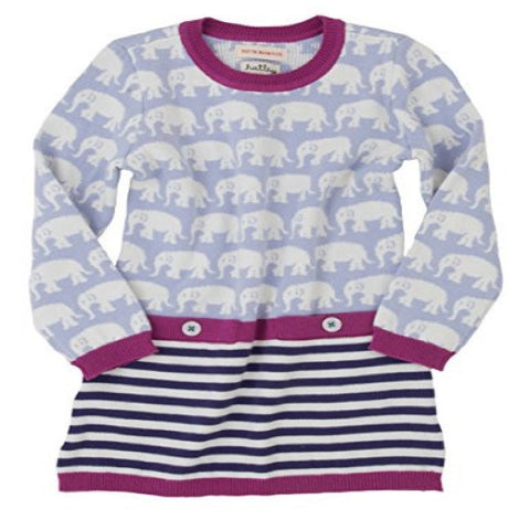 Hatley Long Sleeve Dress with Elephants Design