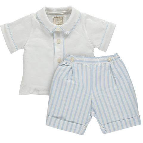 Emile et Rose Blue & White Two Piece Set