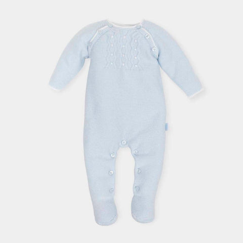 Tutto Piccolo Blue Knitted Babygrow