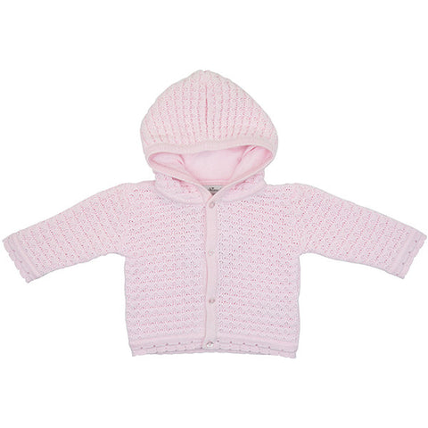 Kissy Kissy Knitted Pink Hooded Cardigan