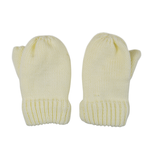 Bowtique London Cream Knitted Mittens