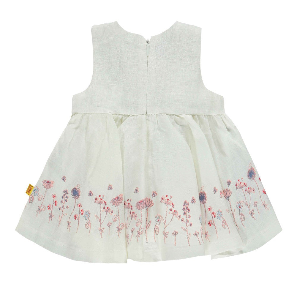 Steiff Floral White Dress