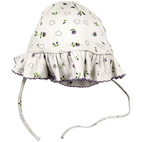 Kissy Kissy Purple Floral Design Hat