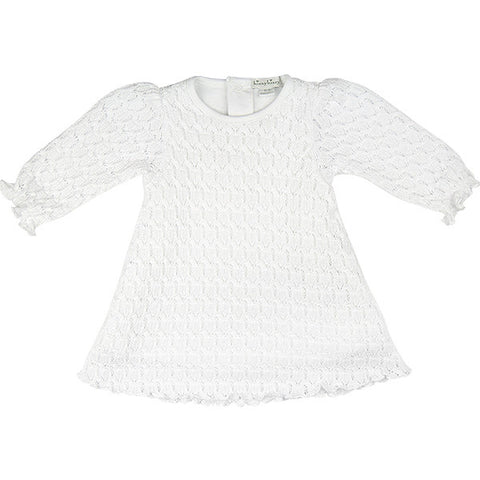 Kissy Kissy Lacy Crochet Fine Knit White Dress