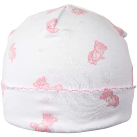 Kissy Kissy 'Tiny Teddy' Pink & White Hat
