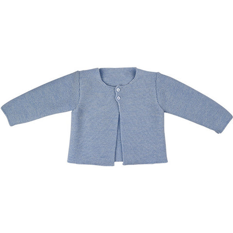 Paz Rodriguez Pale Blue Knitted Cardigan